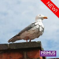 Primus Vintage Look Hand Crafted Metal Seagull Garden Bird Ornament Sculpture