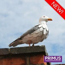 Primus Vintage Look Hand Crafted Metal Seagull Garden Bird Ornament Sculpture