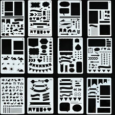 12x Bullet Journal Stencil Plastic Stencils Journal/Notebook/Diary/Scrapbook id