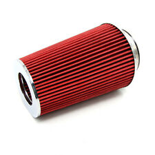 "Universal 3"" Inlet Car Long Ram Cold Air Intake Filter Cone Filter Red  KN Types"