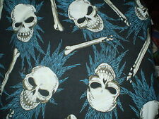 Funky LARGE SKULL THEMED FABRIC Remnant (50cm x 50cm)
