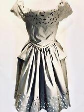 New Vivienne Westwood Slashed Amaryllis Dress, Size 42, Grey