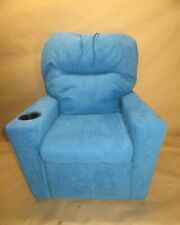 GOOD & GRACIOUS Kids Recliner Chair with Cup Holder Blue