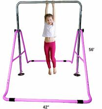Kids Jungle Gymnastics Expandable Jr Training Monkey Bars Climbing Tower Pink