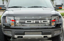 2010-2014 Ford F-150 SVT Raptor Polished Stainless FORD Grille Letters Emblems