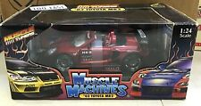 2003 RED TOYOTA MR2 MUSCLE MACHINES 1/24 SCALE DIE CAST MUSCLE TUNERS NIB