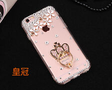 3D handmake Glitter Luxury Bling Diamonds Hard clear back Phone Case Cover #A6