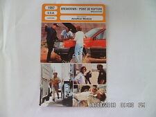 CARTE FICHE CINEMA 1997 POINT DE RUPTURE Kurt Russell