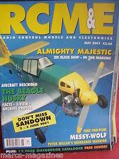RCM&E MAY 2001 PETER MILLER PLAN MESSY WOLF ZN LINE MAJESTIC FOCKE WULF 190D REV
