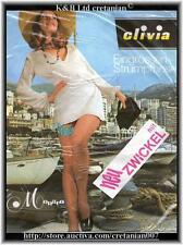 Elivia Monaco Echte Fein Nylon Strumpfhose, m. Zwickel  Vintage der 60er Rare