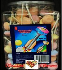 Sweetworld Sherbet Dextrose Lollypops Lollies pink blue yellow orange lollipops