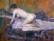 Weiblich Nackte Frau Henri Toulouse Lautrec Sexy Girl Risque Pose Bild Aufdruck