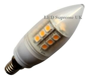 E14 Ses 24 SMD LED 350LM 3.8W Warm Weiß Kerze Birnen ~ 50W