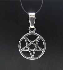 STERLING SILVER PENDANT PENTAGRAM SMALL 925 PE000525 NEW SOLID EMPRESS