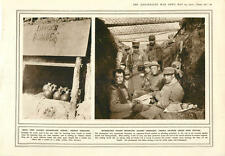 1915 French Grenades Troops Wire Netting Defence Cairo Letter-writer Type-settin