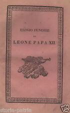 PAPA LEONE XII_ANTICA EDIZIONE NAPOLETANA_LUIGI AMAT_LUPOLI_CONZA_CHIETI_ROSINI