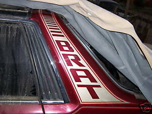Gen 2 Subaru BRAT 2 COLOR Targa Stripes