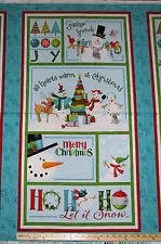 "Ho-Ho-Ho Let it Snow Melting Snowman Christmas by Benartex Fabric Panel 23"""