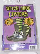 Women's Witch Shoe Covers Spider Web Buckles Costume Cosplay Halloween Scary