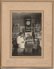 AMERICANA PHOTO OF EARLY GROCERY STORE W/ CLERK, SIGNS,   CASH REGISTER