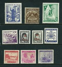 10 Stamps - Chile MH