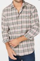 Tommy Bahama LS Harbor Herringbone Twill Plaid shirt Men's Sz Medium NWT $125