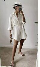 Brand New Zara asymmetric Textured Shirt Size Xxl