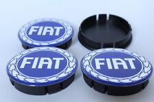 FIAT 4pcs Plastic Wheel Centre Caps with Silicone Emblem 60mm/55mm NEW