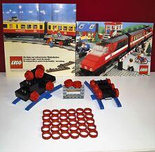 Lego,7725,7735,7740,7745,7777, Eisenbahn,Haftreifen, 30x rot 12V/4,5V