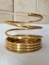 Partylite Shiny Solid Brass Spiral Pillar 3 Inch Candle Holder Vgc