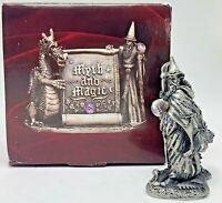 Myth and Magic Tudor Mint Pewter Fantasy Figurine Wizard of Autumn 3053