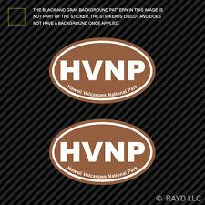 Hawaii Volcanoes National Park Oval Sticker Decal Vinyl Euro HVNP