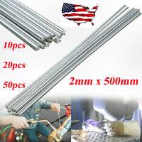 50PCS Low Temperature Aluminum Welding Wire Flux Cored 2mm*500mm Al Soldering Ro