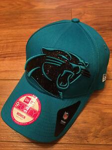 Carolina Panthers WOMENS New Era Bling Rhinestone Sparkle Adjustable Hat Cap