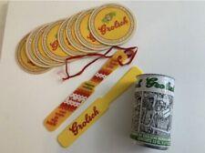 Vintage Grolsch Memorabilia: Beer Can, Yellow Plastic Spatel Glide, and Coasters