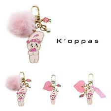 [Estherlovesyou] Esther Bunny Lovely Pink Keyring For Airpod case Buds Case