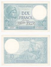 FRANCE 10 Francs Banknote (1924) P.73c - EF.