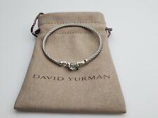 David Yurman Petite Wheaton Bracelet with Prasiolite and Diamonds 3mm Medium