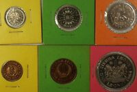 1964 Sierra Leone 6 Proof Coins 1/2 Cent 1 5 10 10 and $1 Complete Set