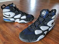 09438e5f77 Nike Air Max 2 Uptempo 94 Black White Blue Authentic Athletic Shoes Men's  Sz. 12