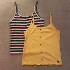 Abercrombie Kids Tank Tops Striped and Yellow Set of 2 Size 11/12