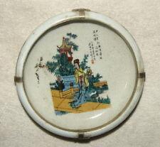 Alte Markierte Chinesisch Porzellan Dosen / Töpfe mit Silber Dekoration #1019