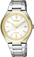 Citizen Eco-Drive Two Tone Stainless Steel Ladies Watch. 5 ATM. FE6024-55B