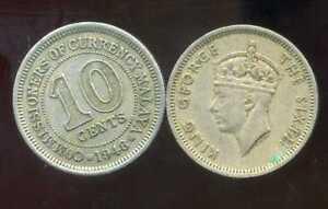 MALAYSIA  MALAISIE  10 cents  1948  ( etat )