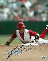 Reggie Willits Signed 8X10 Photo Autograph Anaheim Angels Home Sliding Auto COA