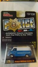 Racing Champions Police USA '75 Chevy Van Prince Williams County, VA. Issue #111