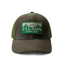 FILSON 11030237 Logger Patch Mesh Back Tin Cloth Otter Green Cap 6fbd03ebf