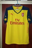 Arsenal London 2014 2015 Puma Away Yellow Shirt Jersey Trikot Size L