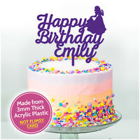 Princess Birthday Cake Topper Custom PERSONALISED Party Decoration Kids Girls