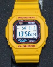 Casio G Shock GW 5600 1ER - Bezel and Strap Mod Yellow - Multiband - Tough Solar